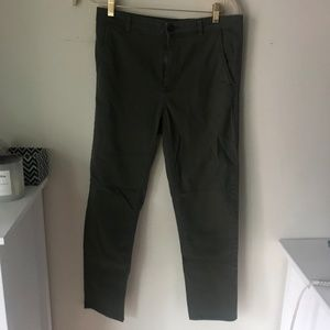 HM Green Olive Cargo Army Pants